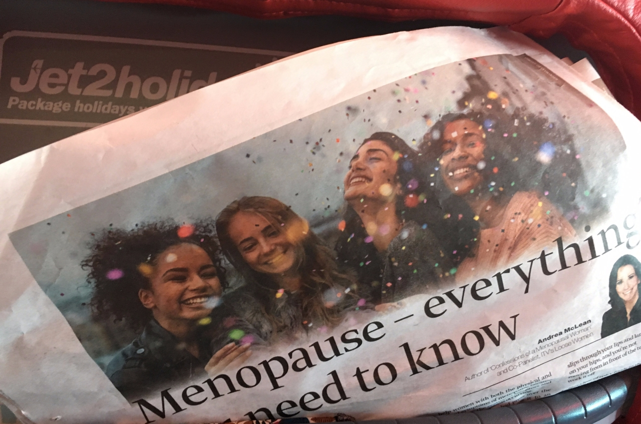 A newspaper article on the Menopause